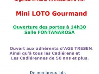 Mini Loto Gourmand de Noël du 19/12