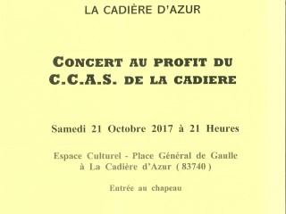 Concert de la Lyre vigneronne le 21/10 à 21h