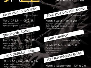 Apéro Jazz le 25/07 19h à 21h
