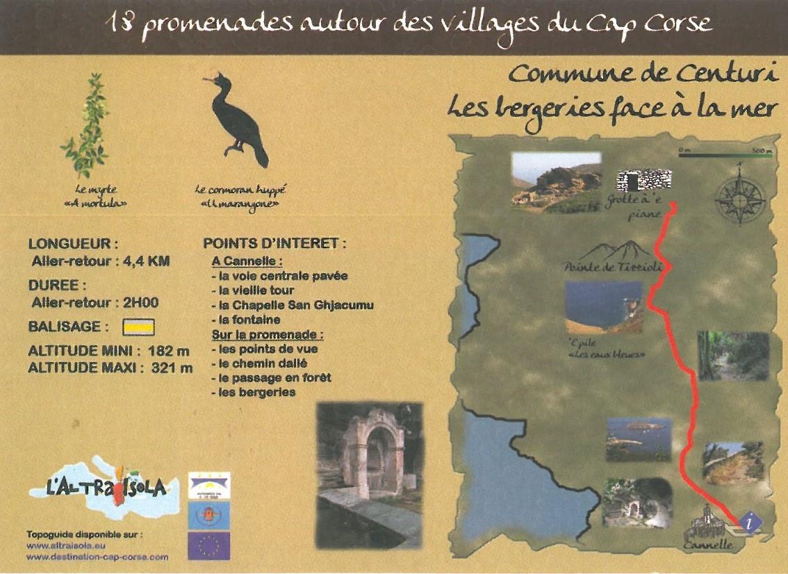 Cap Corse Inconnu : 5 - Les bergeries face à la mer - Centuri