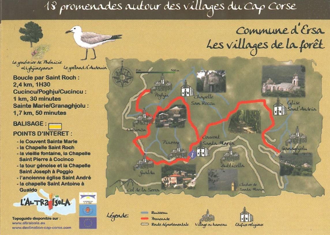 Cap Corse Inconnu : 6 - Les villages de la forêt - Ersa