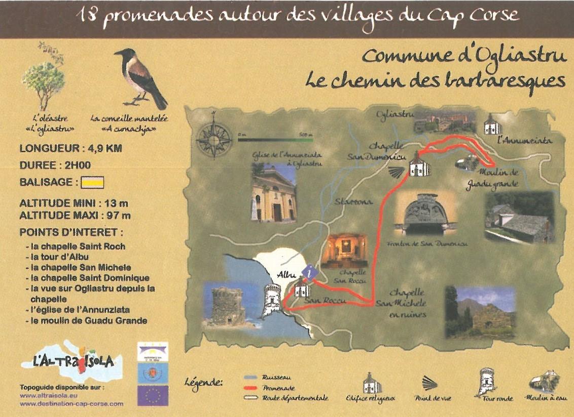Cap Corse Inconnu : 11 - Chemin des barbaresques - Capicorsu
