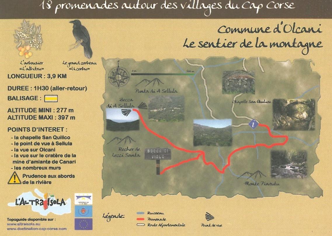 Cap Corse Inconnu : 12 - Le sentier de la montagne - Capicorsu