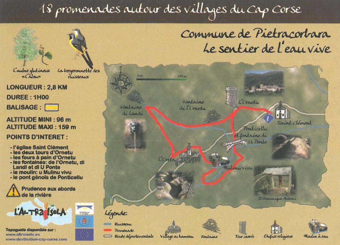 Cap Corse Inconnu - Sentier de l\'eau vive - Capicorsu