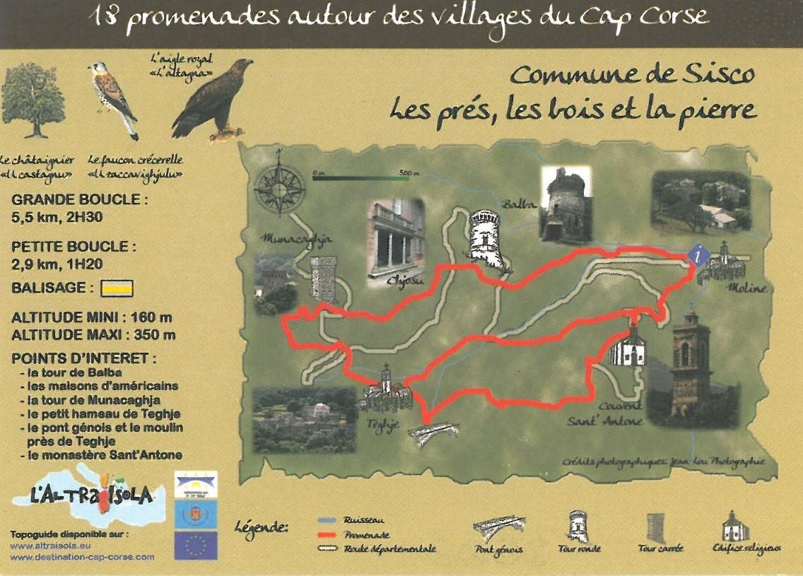Cap Corse Inconnu : 17 - Les prés, les bois et la pierre - Sisco