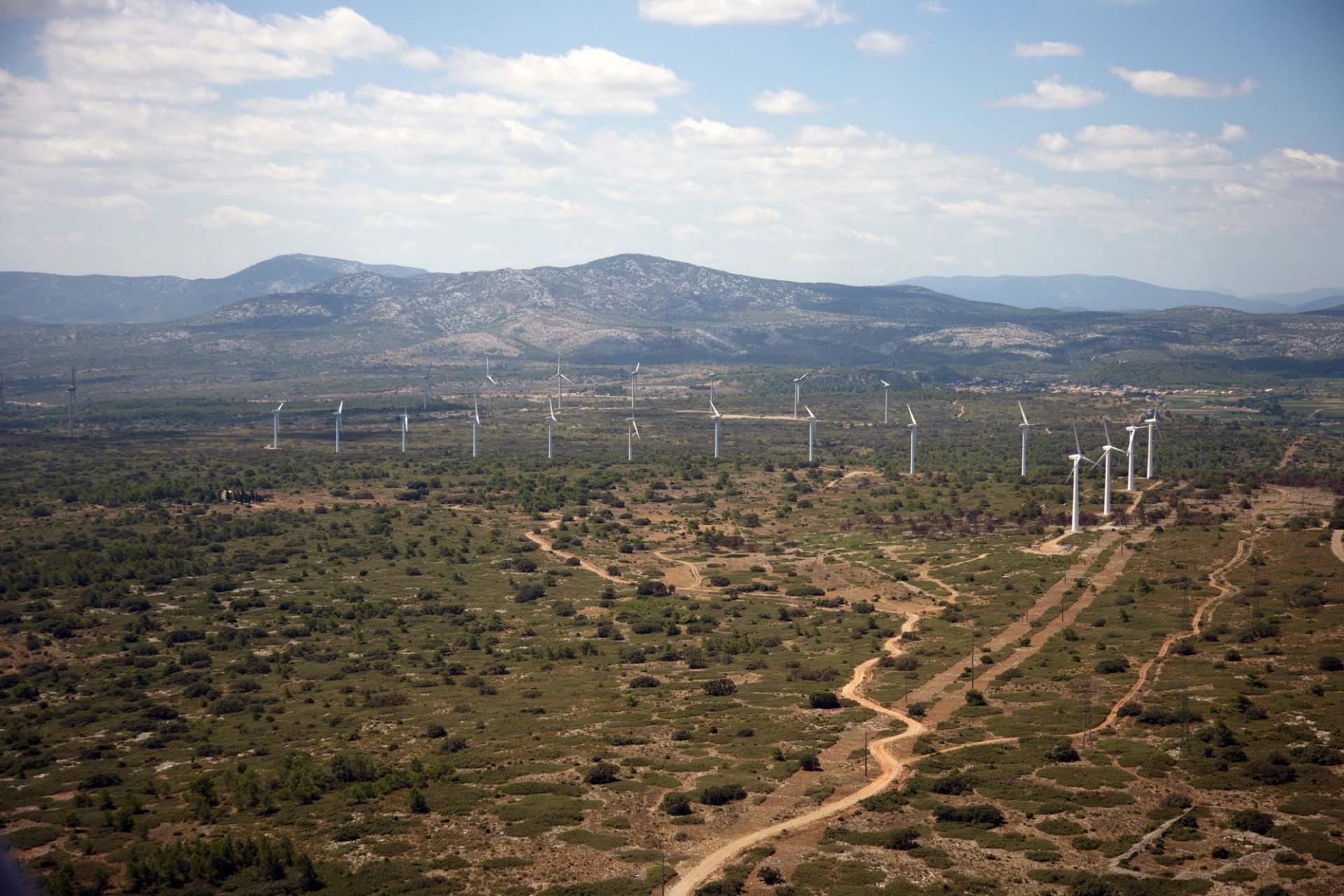Une ferme éolienne