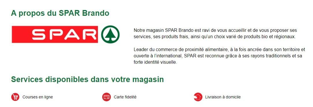 Supermarché SPAR © - Erbalunga - Brando - Cap Corse Capicorsu