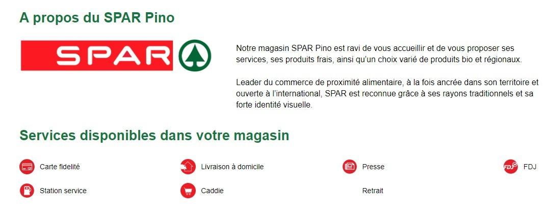 Supermarché SPAR © - PINO - Cap Corse Capicorsu