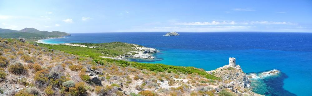 Baie de Barcaggio, Plage, Tour, Giraglia (Ph.J.RATTAT)
