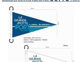 Arborez les couleurs du port- guidons en vente