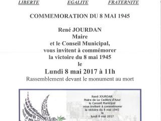 Cérémonie commémorative du 08/05